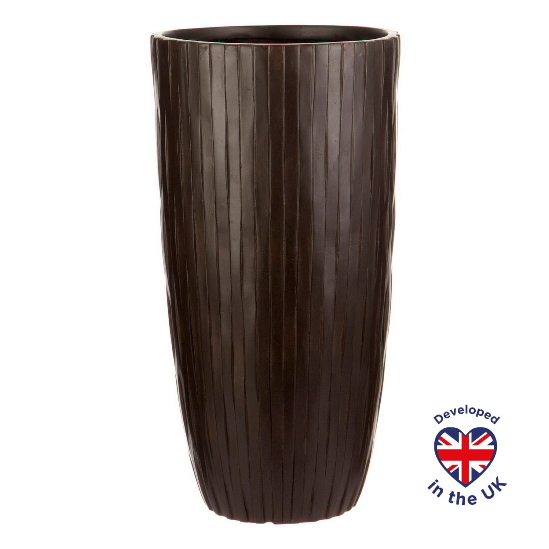 Напольное кашпо для цветов Idealist Lite Буллет, коричневое, Д32 В61.5 см, 49 л