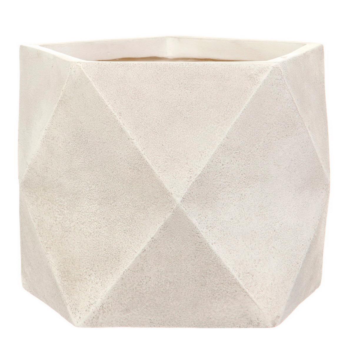 Настольный горшок для цветов Idealist Lite Геометри, слоновая кость, Ш38 Д38 В30 см, 43 л