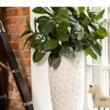 Напольное кашпо для цветов Idealist Lite Мозаик, слоновая кость, Д31.5 В61 см, 47 л