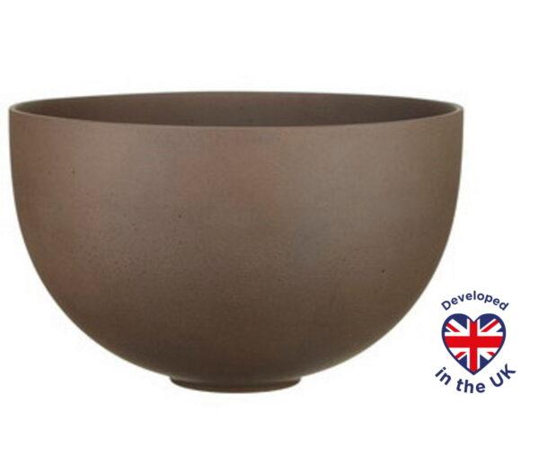 Настольное кашпо для цветов Идеалист Стоун  биг, круглое, мокка, Д44 В27,5 см, 41 л