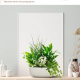 Настольное кашпо для цветов Идеалист Стоун перфект, круглое, молочное, Д35,5 В14 см, 13 л