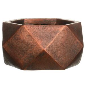 Настольный горшок для цветов Idealist Lite Геометри, серебряный, Ш30 Д30 В15 см, 10 л