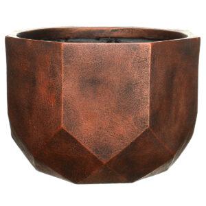 Настольный горшок для цветов Idealist Lite Геометри, круглый, серебряный, Д23 В17 см, 7 л