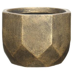 Настольный горшок для цветов Idealist Lite Геометри, круглый, серебряный, Д30 В22 см, 15 л