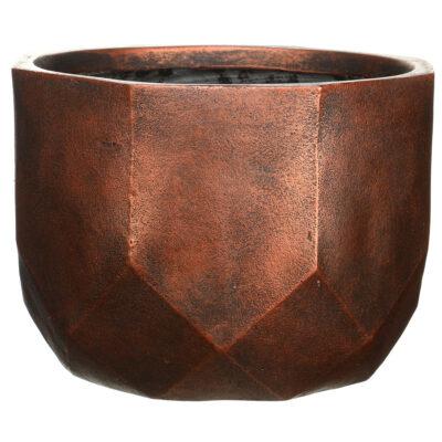 Напольный горшок для цветов Idealist Lite Геометри, круглый, серебряный, Д46 В32 см, 53 л