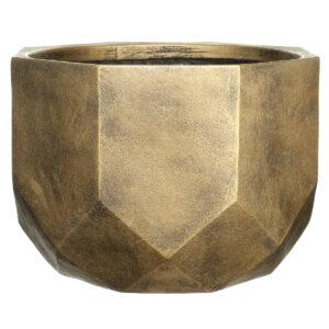 Настольный горшок для цветов Idealist Lite Геометри, круглый, золотой, Д23 В17 см, 7 л