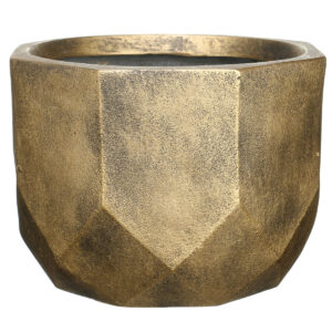 Напольный горшок для цветов Idealist Lite Геометри, круглый, золотой, Д46 В32 см, 53 л
