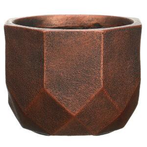 Настольный горшок для цветов Idealist Lite Геометри, круглый, бронзовый, Д30 В22 см, 15 л