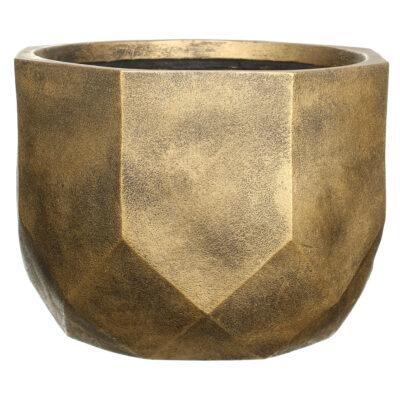 Настольный горшок для цветов Idealist Lite Геометри, круглый, бронзовый, Д37 В27 см, 29 л