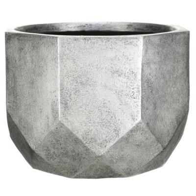 Напольный горшок для цветов Idealist Lite Геометри, круглый, бронзовый, Д46 В32 см, 53 л
