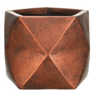 Настольный горшок для цветов Idealist Lite Геометри, серебряный, Ш25 Д25 В20 см, 12 л