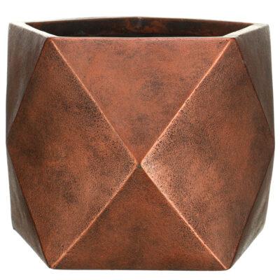 Настольный горшок для цветов Idealist Lite Геометри, золотой, Ш38 Д38 В30 см, 43 л