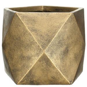Настольный горшок для цветов Idealist Lite Геометри, бронзовый, Ш25 Д25 В20 см, 12 л
