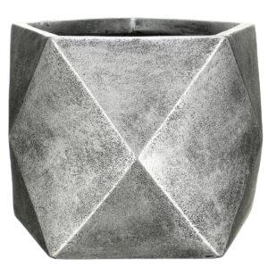 Настольный горшок для цветов Idealist Lite Геометри, бронзовый, Ш38 Д38 В30 см, 43 л