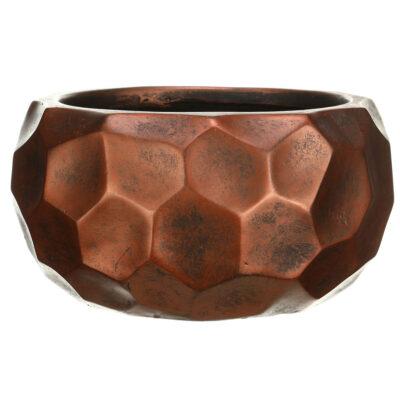Настольный горшок для цветов Idealist Lite Мозаик, круглый, серебряный, Д29.5 В15 см, 10 л