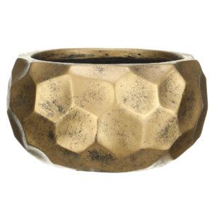 Настольный горшок для цветов Idealist Lite Мозаик, круглый, золотой, Д29.5 В15 см, 10 л