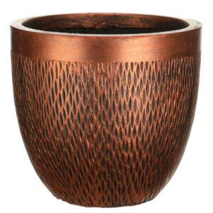 Настольный горшок для цветов Idealist Lite Лотус, круглый, серебряный, Д26.5 В24.5 см, 13 л