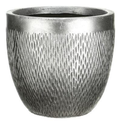 Напольный горшок для цветов Idealist Lite Лотус, круглый, бронзовый, Д37 В33.5 см, 36 л