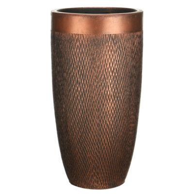 Напольный горшок для цветов Idealist Lite Лотус, круглый, серебряный, Д30 В58 см, 40 л