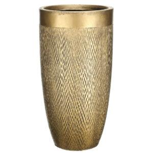 Напольный горшок для цветов Idealist Lite Лотус, круглый, золотой, Д30 В58 см, 40 л