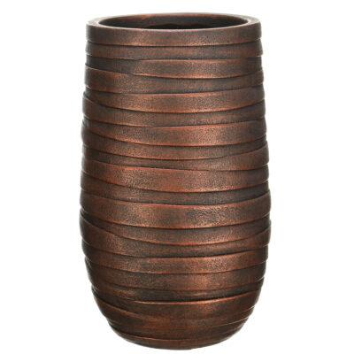 Напольный горшок для цветов Idealist Lite Роу, серебряный, Д26.5 В45 см, 24 л