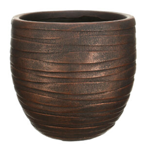 Настольный горшок для цветов Idealist Lite Роу, круглый, серебряный, Д27 В25.5 см, 14 л
