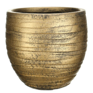 Настольный горшок для цветов Idealist Lite Роу, круглый, золотой, Д27 В25.5 см, 14 л