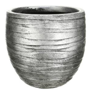 Настольный горшок для цветов Idealist Lite Роу, круглый,бронзовый, Д27 В25.5 см, 14 л