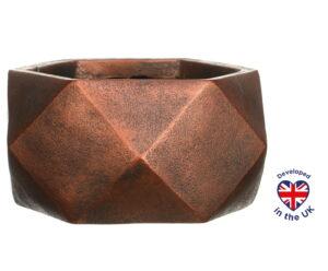 Настольное кашпо для цветов Idealist Lite Геометри, цвет - бронза, Ш30 Д30 В15 см, 10 л