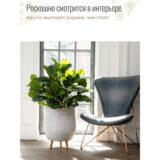 Напольное кашпо для цветов Idealist Lite Плейт, круглое, белое, Д44 В55 см, 59.6 л