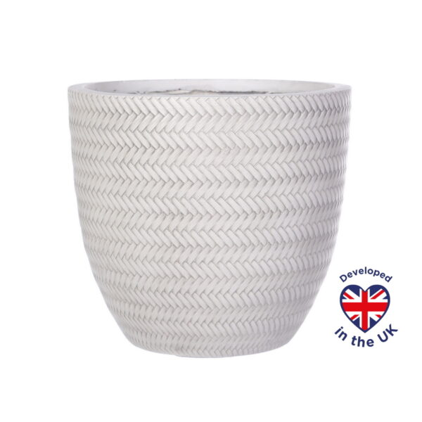 Настольное кашпо для цветов Idealist Lite Плейт, белое, Д30 В28 см, 19.8 л