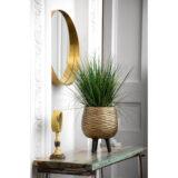 Напольное кашпо для цветов Idealist Lite Паттерн, золотистое, Д42 В47 см, 44 л