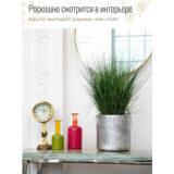 Настольное кашпо для цветов Idealist Lite Лист, серебристое, Д24 В24 см, 10.9 л