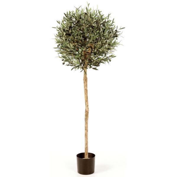 Искусственное растение Олива с плодами, на штамбе, высота 140 см