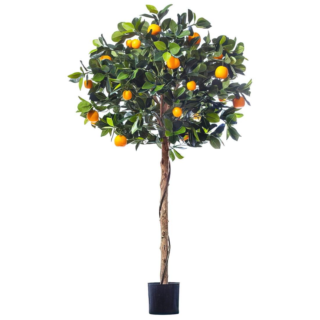 Искусственное растение Мандарин Голден Оранж с плодами, высота 120 см