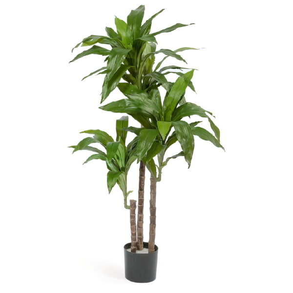 Искусственное растение Драцена Джанет Крейг зеленая, высота 125 см