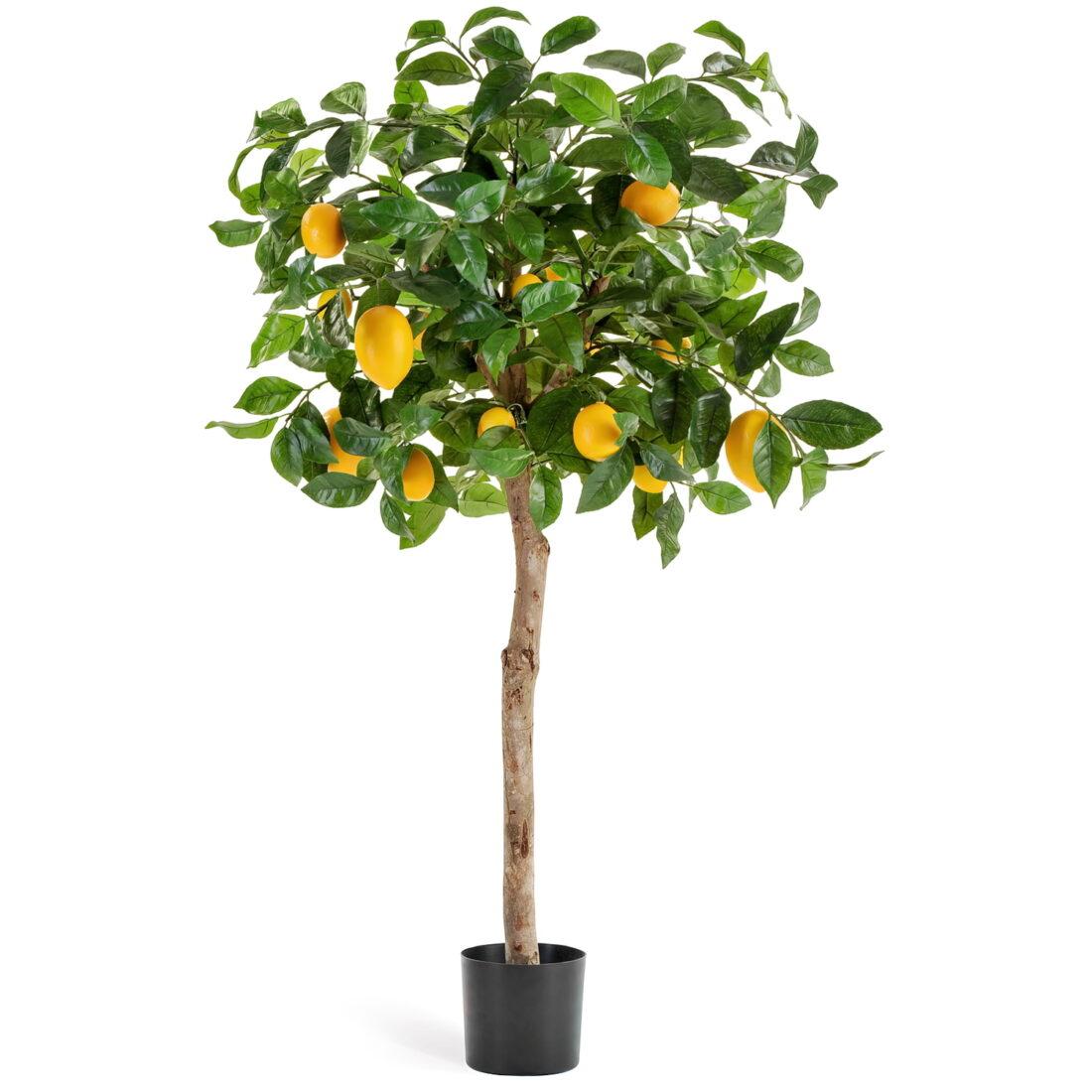 Искусственное растение Лимонное дерево с плодами, высота 110 см