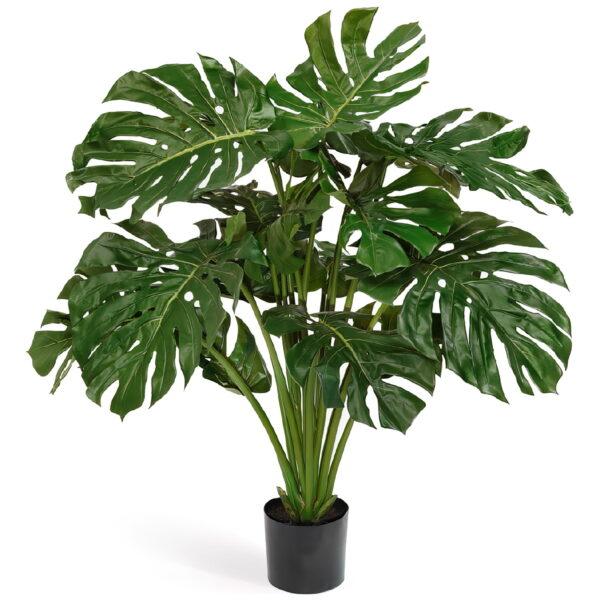 Искусственное растение Монстера, куст, высота 115 см